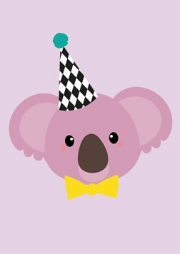 Happy Birthday - Koala - pink