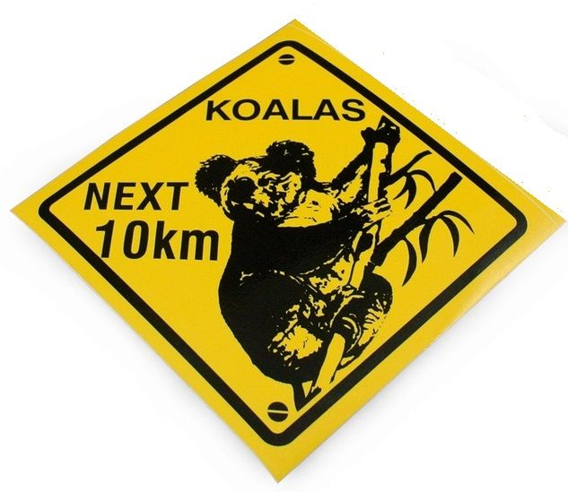 Sticker koala next 10 km