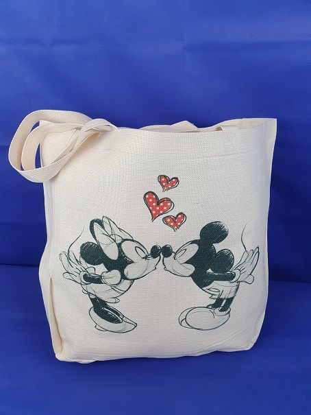 Shopper - Linnen - Mickey & Minnie mouse