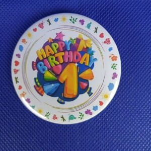 BUTTON - happy birthday - 1 jaar