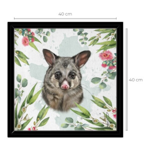 Canvas met frame - Possum