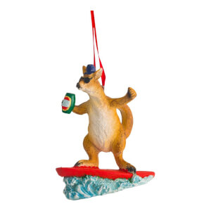 Kerstboom decoratie - Surfing kangaroo